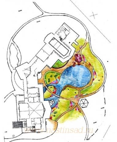 Ландшафтный дизайн участка от Ильи Васецкого  более 1000